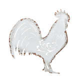 White Rooster Metal Wall Decor